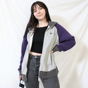 Nike Purple and Grey Zip Hoodie